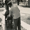 Love this picture of Dad. Burning trash?