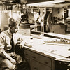 Dad in the ship's woodshop
