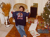 Kevin gets a Willy shirt for Christmas, 1981