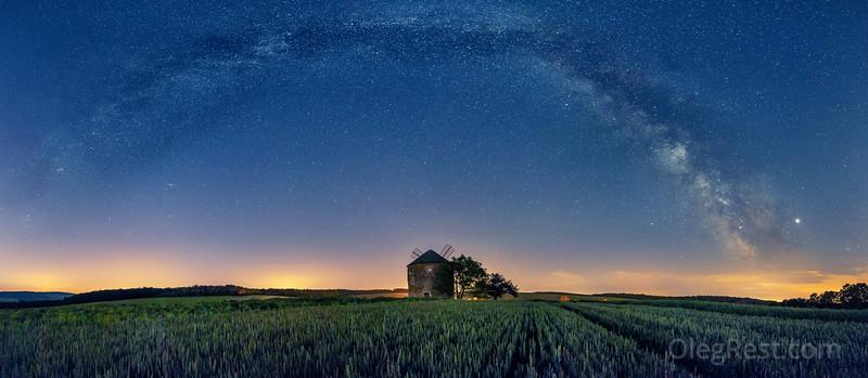Milky way in Moravia