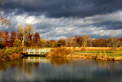 Bridge near golf course in Forest Park, St. Louis, MO.  Selected one of top three by St. Louis Photo Club