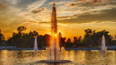 Fountains, Grand Basin, Forest Park, St. Louis, MO
