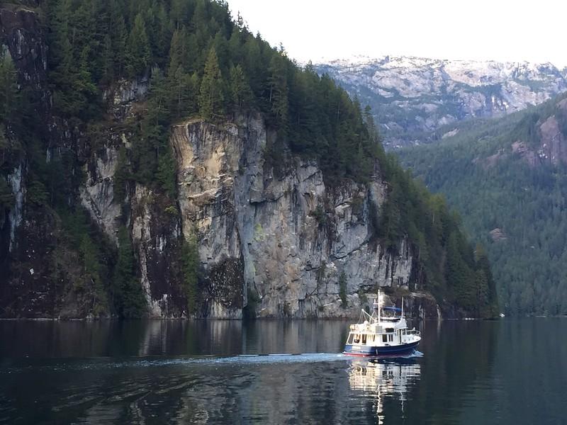 Hokulele...crystal clear water...Princess Louisa Inlet
