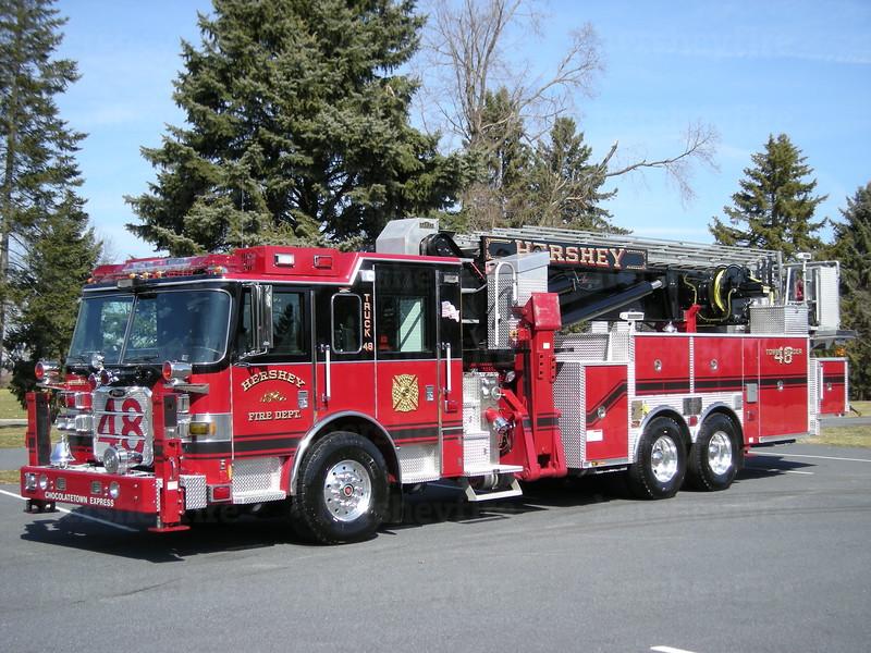 Hershey Truck 48: 2007 Pierce ArrowXT/1994 Saulsbury/Baker 95'<br /> photo date: 3/2/08