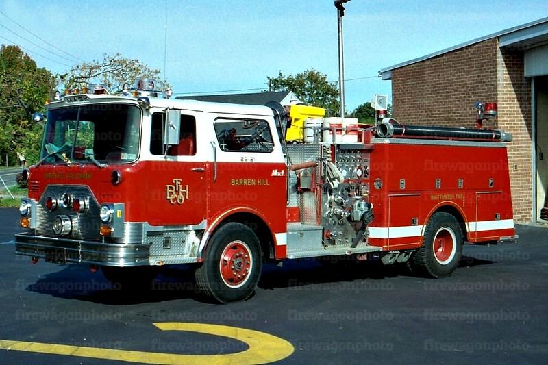 Barren Hill: 1983 Mack CF 1500/750