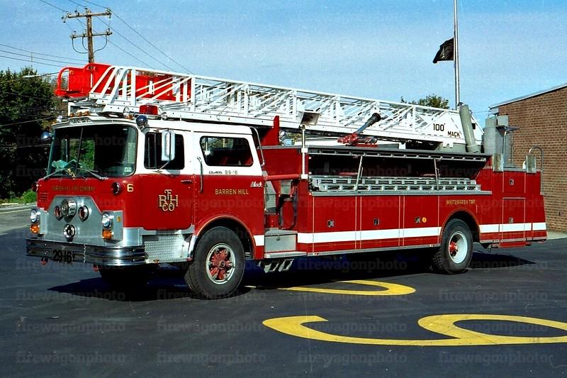 Barren Hill: 1978 Mack CF/Hamerly/American LaFrance 100'