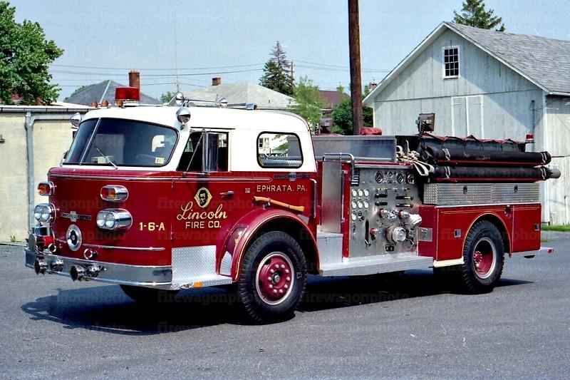 Ephrata - Lincoln Fire Co.:  1969 American LaFrance 1250/500