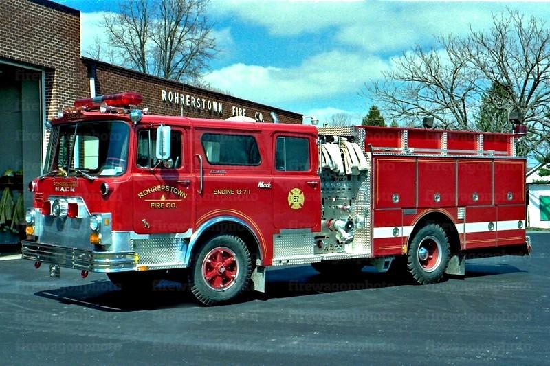 Rohrerstown: 1973 Mack CF/1988 4-Guys 1000/750
