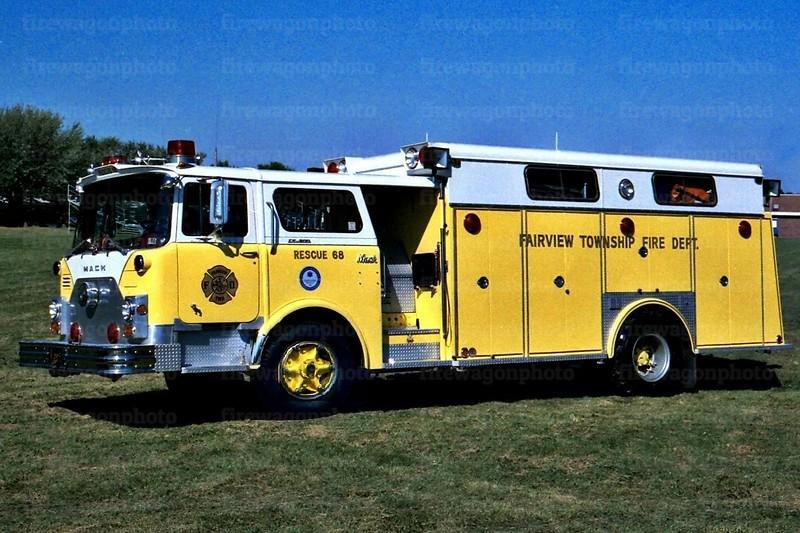 Fairview Twp., PA - 1970 Mack CF/Swab<br /> x-Harrisburg Bureau of Fire