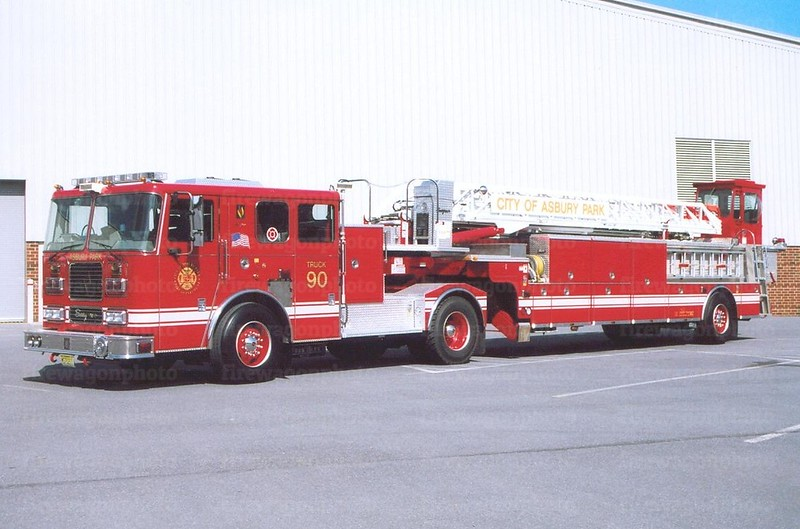 Ashbury Park, New Jersey: 2006 Seagrave tractor/1995 Seagrave trailer x-Baltimore County, Maryland Truck 18