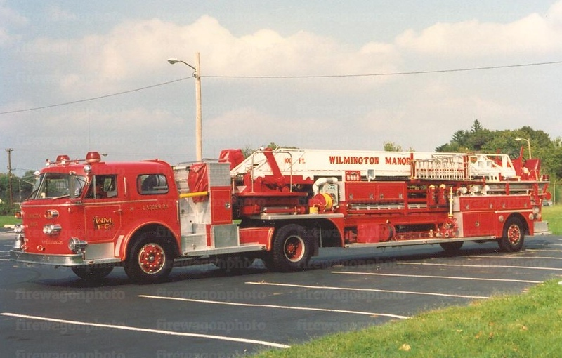 Wilimington Manor, Delaware: 1965/1985 American LaFrance 100'<br /> x-Talleyville Ladder 25