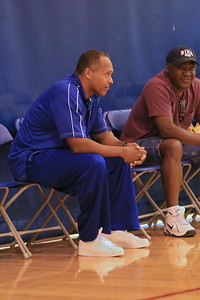 KU Assistant Coach Norm Roberts (left)