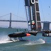 Oracle's Boat at the American Cup - Race #9, San Francisco Bay 2013.