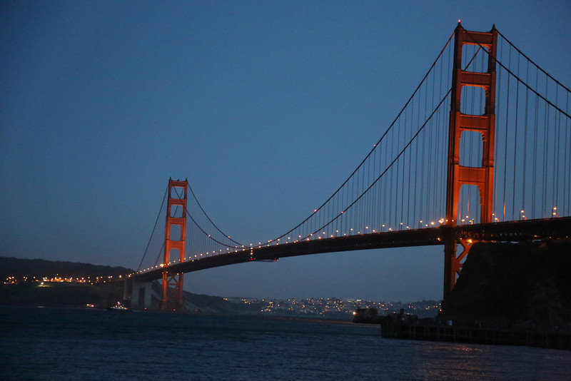 The Golden Gate Bridge on its 75th anniversary
