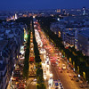 Paris night from top of - Arc de Triomphe