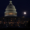 Moonlight over the Capital Building, Washington, DC