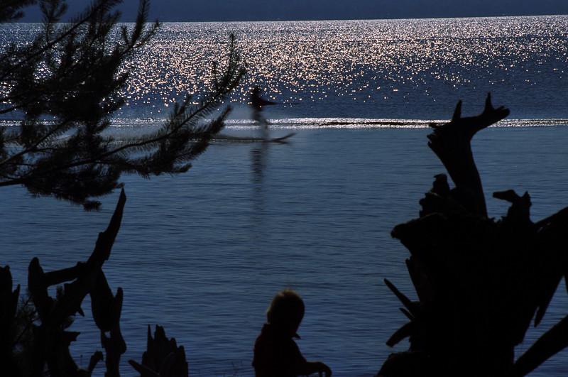 Skiing, Portage Lake, MI