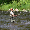 Fishing in a good flow.