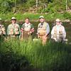 L to R: Bob, Guy, Klingon, Phil and Doug on the bank of the Swift.
