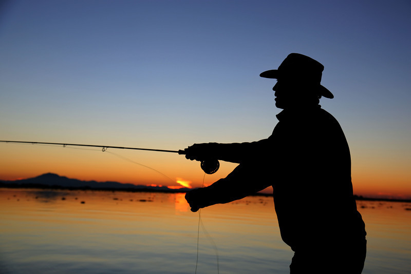 Fly fishing on the California Delta