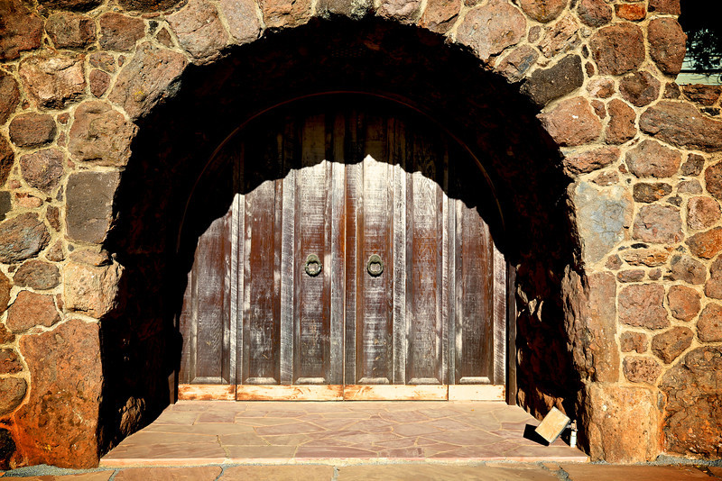 Front Door of Hanzell winery in Sonoma, CA