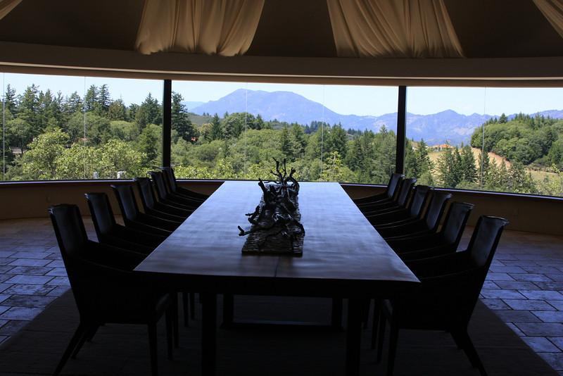 Incredible room at Vineyard 7 and 8 WInery, St. Helena, CA