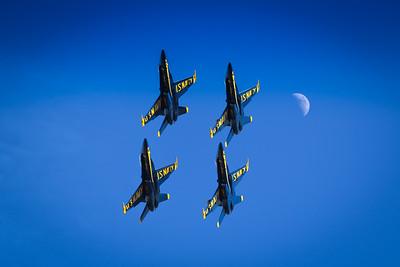 Blue Angels Fly Oshkosh's Skies