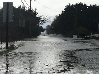 Old Arcata Road in Bayside had some flooding on the roadway Friday. (Heather Shelton - The Times-Standard)