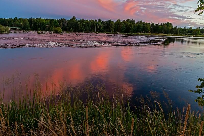Sunset over Dalälven, Gysinge