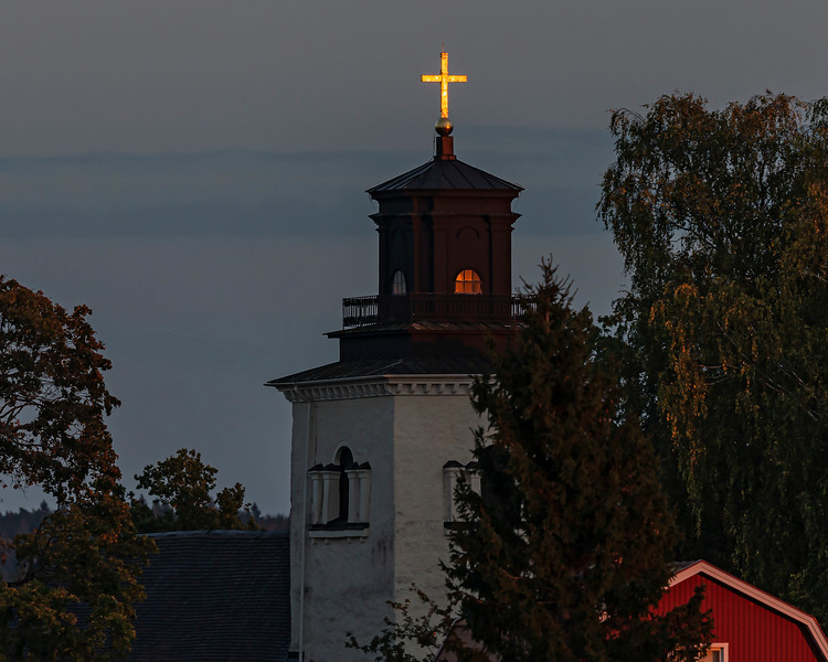 The church in the sunset