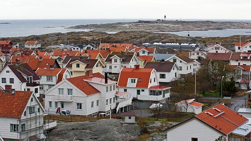 Smögen, west coast of Sweden. Island Hållö, in background