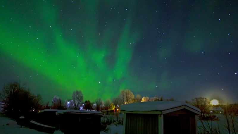 Nordic light (Aurora) in Kiruna