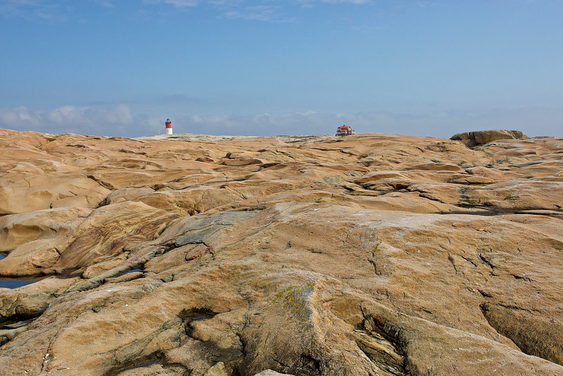 Hållö, beautiful landscape and Lighthouse in west coast of Sweden