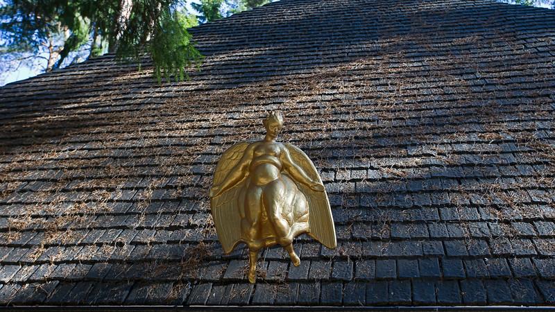 World Heritage Skogskyrkogården - Angel of Carl Milles, Stockholm Sweden