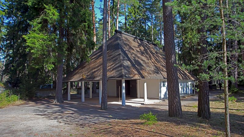 World Heritage Skogskyrkogården Skogskapellet, Stockholm, Sweden
