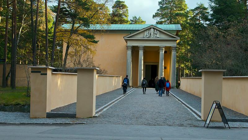 World Heritage Skogskyrkogården, Uppståndelsekapellet 1923, Stockholm, Sweden