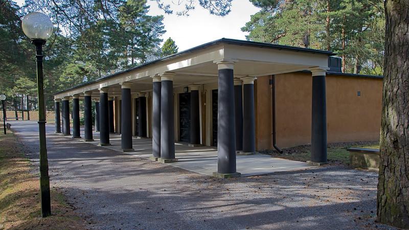 World Heritage Skogskyrkogården,belongs to Uppståndelsekapellet, Stockholm, Sweden
