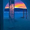 Ishotellet i Jukkasjärvi, och solnedgång kl 13.55