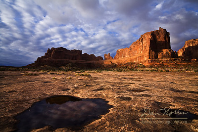 Courthouse Towers Pothole Reflections 7 Arches National Park near Moab, Utah