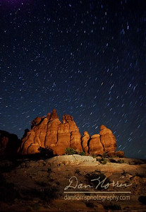 5-minute exposure.  Formations light painted with a spotlight.