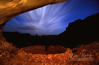 False Kiva at Night - 12 minute exposure - fill light painted with a spotlight