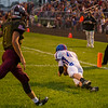 Comets Kasey Ault (40) catches the only Caston TD the first quarter. Winamac went on to defeat Caston by a score of 47-8. Fran Ruchalski | Pharos-Tribune
