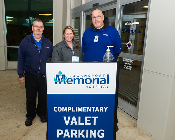 The parking valets at Logansport Memorial Hospital on Monday were from left, Danny Cole, Sr., Brittany Zartman, and Randy Delrymple. Fran Ruchalski | Pharos-Tribune