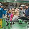 Ralph Kauffman, right, explains to the visiting Columbia Elementary students what his job is, how his machine works, and what it produces. Myers Spring hosted Manufacturing Day at their plant on Water Street on Friday to show elementary school children what it's like to work in a factory. Fran Ruchalski | Pharos-Tribune
