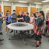 Todd Miller, owner of Myers Spring talks to students from Fairview Elementary School about all of the things that his company makes springs for and the importance of education in getting a job in the future. Myers Spring hosted Manufacturing Day at their plant on Water Street on Friday to show elementary school children what it's like to work in a factory. Fran Ruchalski | Pharos-Tribune