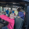 Anaiah Dulin, 6, a kindergartener from Columbia Elementary sees what it's like to drive a SWATvehicle at Ivy Tech on Friday morning. The children were there for the Promise Indiana: Walk Into My Future event where they learned about skills training and professions that might interest them in the future. Fran Ruchalski | Pharos-Tribune