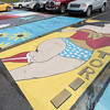 About 30 seniors at Pioneer High School painted their own parking places as part of a fundraising program at the school. It was the first time it had been done, and a new tradition has been born.  Fran Ruchalski | Pharos-Tribune