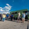 Hungry customers line up in a downtown parking lot to try the offerings of Logansport's only lunch truck on September19, 2017. Fran Ruchalski | Pharos-Tribune