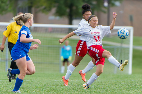 Midfielder Yilian Rodriguez takes control of the ball in the first half. The Lady Berries defeated the Kokomo Lady Wildkats by a score of 7-2 on Tuesday evening. Fran Ruchalski | Pharos-Tribune