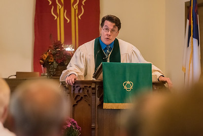 Pastor Harry Roselle spoke about the past, present, and future of the Church in these troubled times as Deer Creek Presbyterian church celebrated its 175th anniversary on Sunday, Sept. 25, 2017 with a service and dinner for all in attendance. Fran Ruchalski  Pharos-Tribune